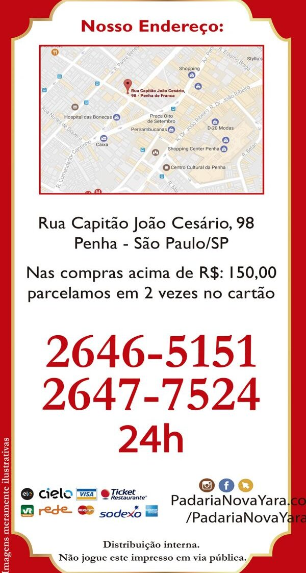 CARDÁPIO PÃO DE METRO